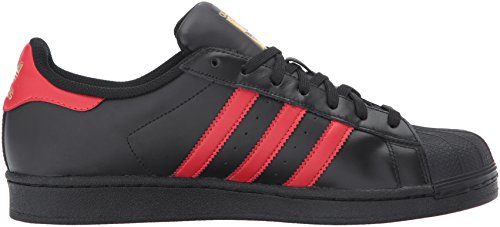 adidas Originals Herren Superstar Fashion Sneaker Cblack / Scarle / Goldm