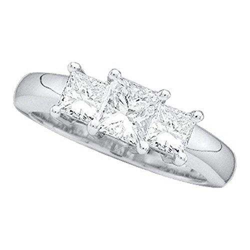 3 Stone Princess Ring Setting - 9