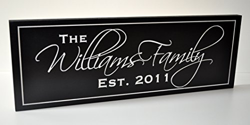 Personalized Family Name Sign 8x24