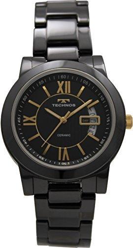 Amazon.com  TECHNOS wristwatch date ceramic T9563TH1J Men s  Toys ... 5de72b5ad1