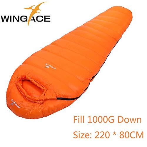 Amazon.com : RubyShopUU Filling 400G 600G 800G 1000G 1200G Outdoor Ultralight Sleeping Bags Camping Splicing Mummy Goose Down saco de dormir uyku tulumu ...