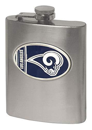 NFL St. Louis Rams Hip Flask - Steel Stainless Louis Flask Rams