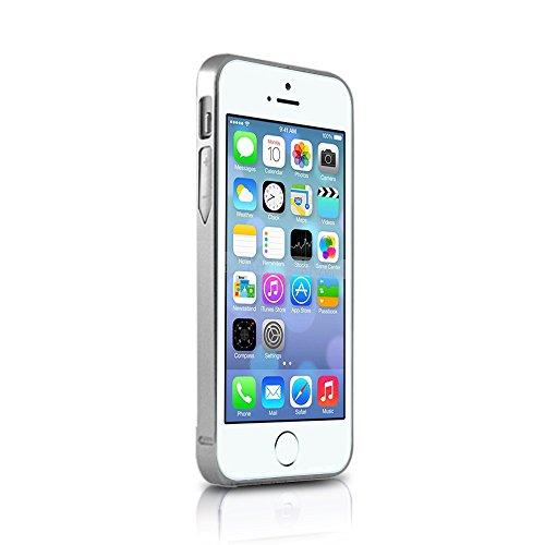X-Tanium Aluminum Bumper Case for iPhone 5/5s - Retail Packaging - Silver