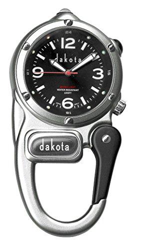 Dakota Watch Company Mini Clip with Microlight Dial, Silver/Black (Clip Watch Knife Dakota)