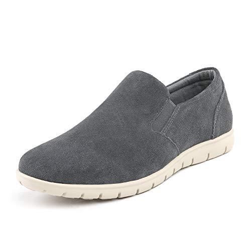 (Bruno Marc Men's Grey Slip On Loafer Casual Shoes Size 8.5 M US)