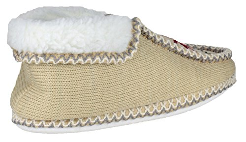Divaz Womens/Ladies Norway Textile Slip on Moccasin Slippers Beige