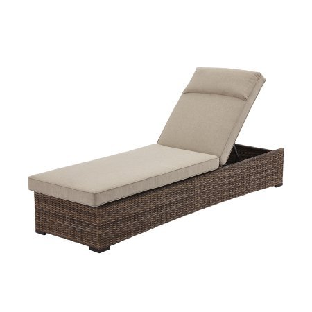 Better Homes and Gardens…. Hawthorne Park Outdoor (Chaise Lounge, Beige) For Sale
