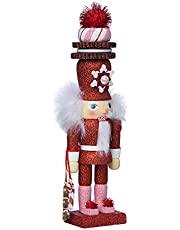 Kurt Adler 12-Inch Hollywood Red Gingerbread Nutcracker with Cookie Hat