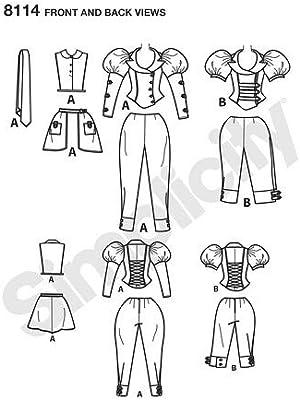 Simplicity Plantilla de Costura para Disfraz Steampunk para ...