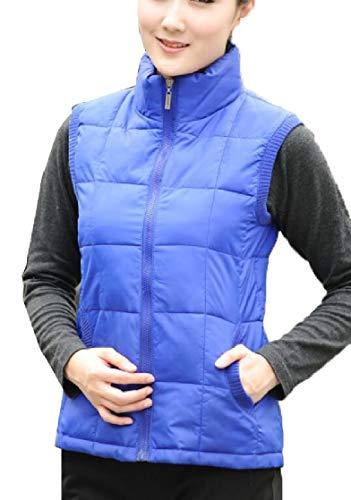 受け皿無人チャールズキージングFly Year-JP レディーススタンドカラー軽量ダウンベストパッドキルトジャケットコート