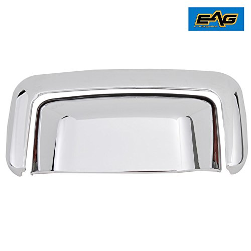 E-Autogrilles Triple Chrome Plated ABS Tailgate Handle Cover with Tailgate Door Only for 00-06 Chevy Suburban / Tahoe / GMC Yukon/Yukon XL / 01-06 Yukon Denali