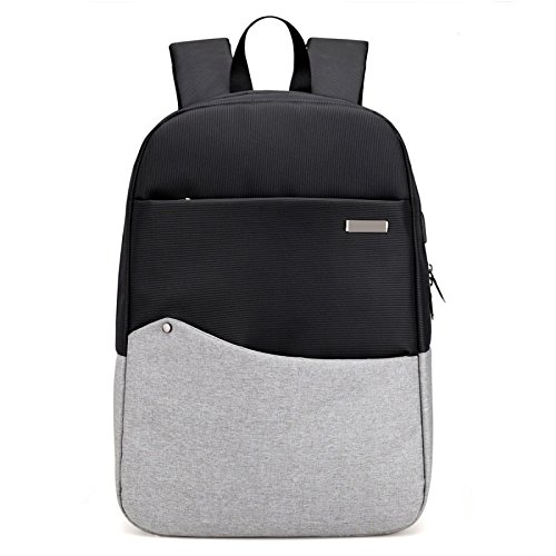 Dhfud Casual Bag Travel Bag Computer Usb Interface Backpack Student Backpack Lightgray