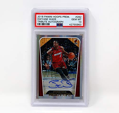 Hoops Wade Dwayne - 2018 PANINI Hoops Dwayne Wade Miami Heats Signatures PSA 10 GEM MT Autograph Unique Collectible Item NBA Basketball