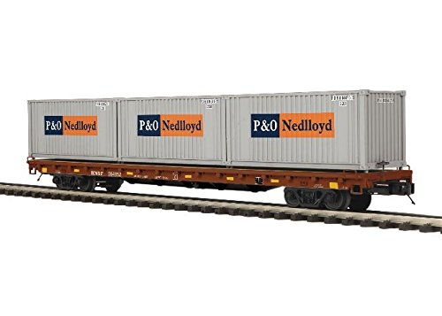 MTH TRAINS; MIKES TRAIN HOUSE BNSF 60' Flat W/20' CONTAINERS