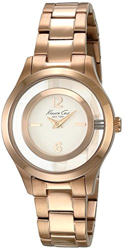 Kenneth Cole Womens Classic Quartz Rose Gold Band Silver Dial