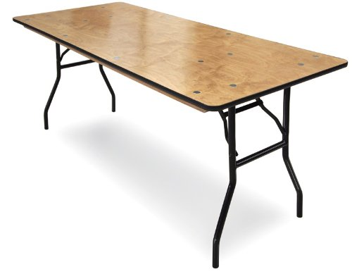 McCourt 70009 Plywood Folding Table, Polycoat Finish with Vinyl Edge, 6' x ()