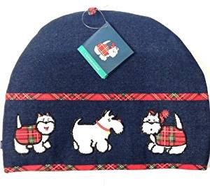 Tartan Terrier Denim Cotton Tea Cosy (Tartan Tea)