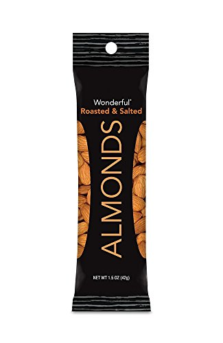 Wonderful Almonds, Roasted and Salted, 1.5-oz Bags (Pack of 24)