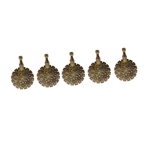 (Homyl 5 Pieces Antique Bronze Thread Yarn Cutter Pendant Floss Cutters for DIY Sewing Knitting)