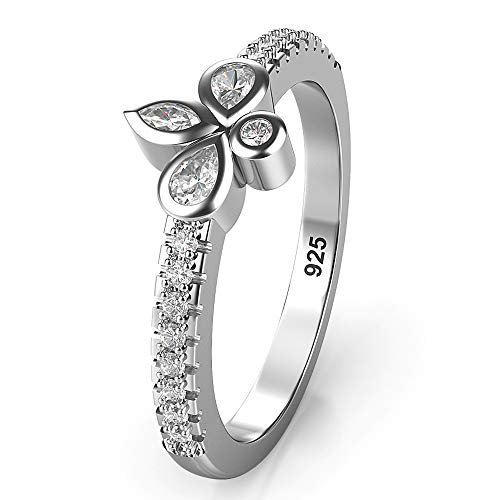 Fleur De Lis Solid Ring - Metal Factory Sz 9.0 Solid Sterling Silver CZ Fleur de lis Wedding Engagement Ring