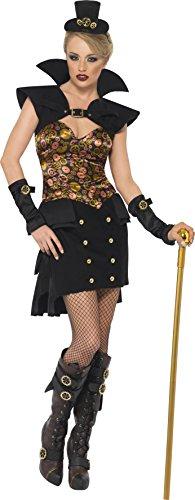Smiffy's Steam Punk Victorian Sexy Vampiress Costume, Mul...