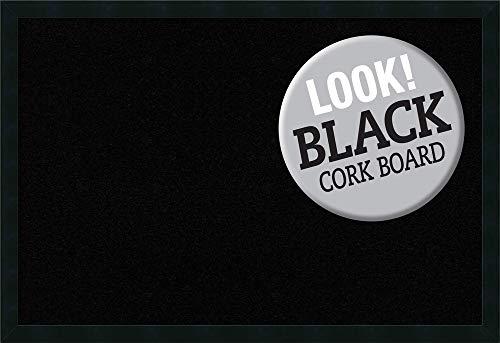 - Amanti Art Wood Cork Mezzanotte Black Framed Bulletin Boards, Size 36x24