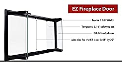 Superior Bi-Fold Glass Fireplace Door, Easy to Install, Stop Annoying Drafts and Lower Your Heating Bill (Fits Superior RD3800) from EZ Door
