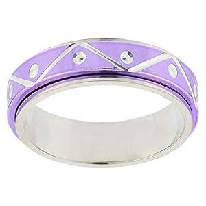 Aurora Women's Silver Violet Dubla Ring