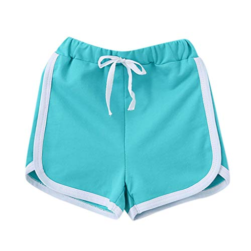 WOCACHI Toddler Unisex Baby Shorts, Summer Children Boy Girl Candy Colors Casual Shorts Elastic Waist Pants Clothes Back to School Easter Egg Costume Parade Bunny Lily Eggs Roll Basket Mother's Day ()