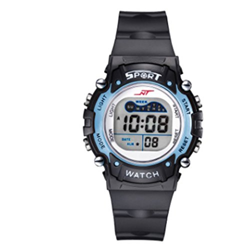 Price comparison product image PREMA Boys and girls multi-function waterproof electronic watch with LED luminous Sports Watch (blue)