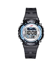 PREMA Boys and girls multi-function waterproof electronic watch with LED luminous Sports Watch (blue)