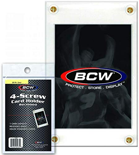 BCW 1-4SR 4-Screw Card Holder - Recessed