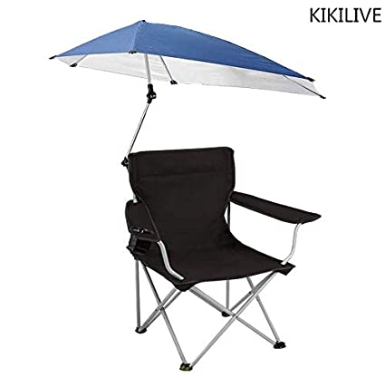 Fine Kikilive Sunshade Chair Adjustable Canopy Folding Camp Chair Spiritservingveterans Wood Chair Design Ideas Spiritservingveteransorg
