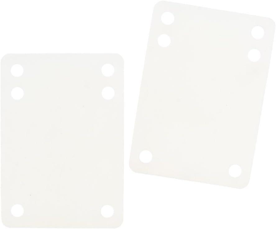 2pcs Rubber Longboard Skateboard Riser Pads Shock Pads 3mm 6mm 11mm White
