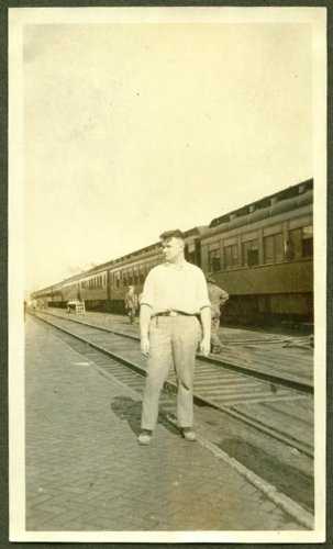 Passenger Platform (Train & passenger depot platform Havre MT photo 1922)