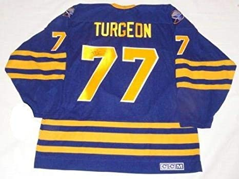 Pierre Turgeon Signed Jersey -  77 Vintage Ccm Proof Rare ... 133a81bf7