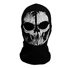 "SODIAL(R) Round neck mask Hood ""Ghost Skull"" -Call Of Duty Modern Warfare - Airsoft Paintball motorcycle Outdoor color # 8"
