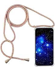 Compatibel met iPhone 11 PRO MAX 6.5 ultradun Clear TPU,Nek Tas Cover met snoer band schokbestendig Smartphone hoesje met koord Necklace koord.