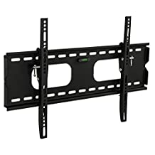 Mount-It! Low-Profile Tilting TV Wall Mount Bracket for 32 - 60 inch LCD, LED, OLED, 4K or Plasma Flat Screen TVs - 175 lbs Capacity, 1.5 Inch Profile, Max VESA 600x400 With 6 ft HDMI Cable ( MI-318B)