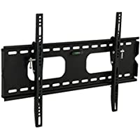 Mount-It! MI-318B Low-Profile Tilting TV Wall Mount Bracket for 32 - 60 inch LCD, LED, OLED, 4K or Plasma Flat Screen TVs - 175 lbs Capacity, 1.5 Inch Profile, Max VESA 600x400 With 6 ft HDMI Cable