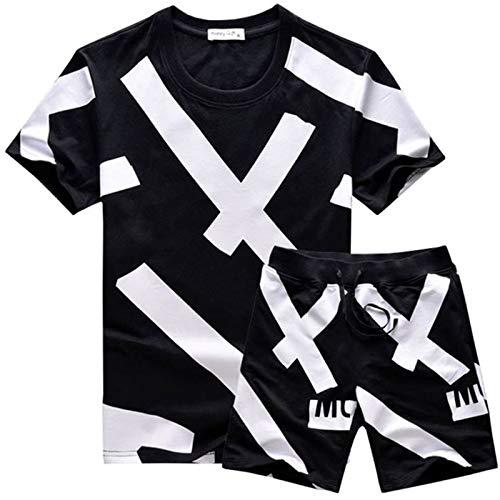 XX-grand Zxl-yf T-Shirt à Manches Courtes de la Marque Tide pour Hommes d'été, Sports et Loisirs (Taille   L)