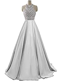 Womens Sequins Evening Party Gowns Beading Formal Prom Dresses Long H187