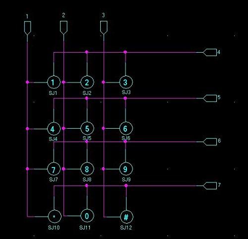 12 Keys Keypad 4 X 3 Membrane Matrix Keyboard Module Array Switch for Arduino WIshioT