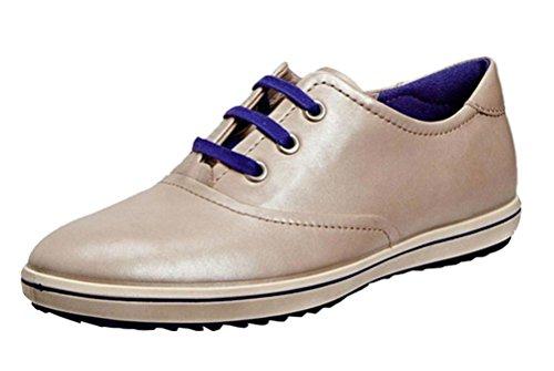 Zapatos Plateado piel mujer cordones Ecco plateado de de para ACnqxSwd