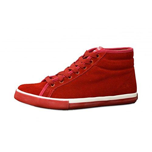 Coca-Cola apos Sneakers Herren quot;Verona aus Leder–rot Rot