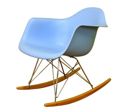 Amazon.com: Rocking Chair - Modern Style Sky Blue Finish: Kitchen & Dining
