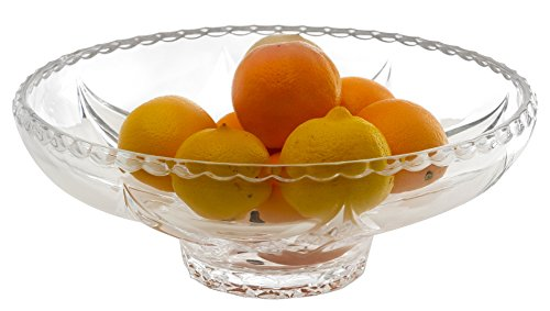 Amlong Crystal Lead Free Crystal Fruit Bowl, 12.5 inch Diameter (Crystal Fruit Bowl)