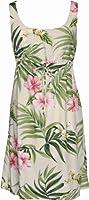 Hibiscus and Orchids Hawaiian Dress - Womens Hawaiian Dress - Aloha Dress
