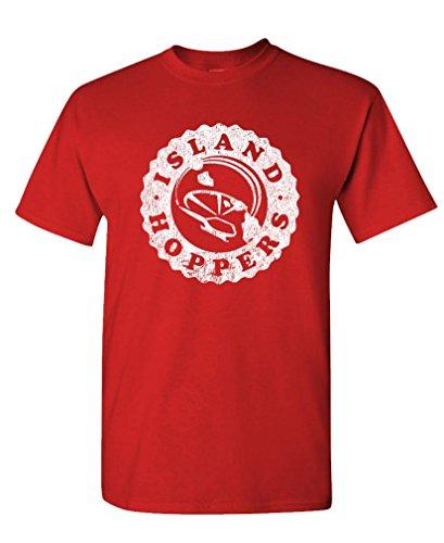 Island Hoppers - Magnum 80's Retro tv Show - Mens Cotton T-Shirt, 2XL, Red