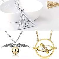Big Kit - Colar Vira Tempo Hermione 3 Colares Harry Potter